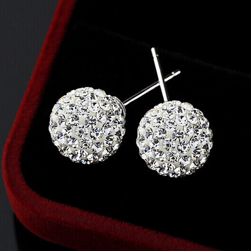 Brand-Fashion-Earrings-2014-Piercing-Bijoux-Mix-Color-Micro-Disco-Ball-Earring-Studs-Clay-CZ-Crystal (1)